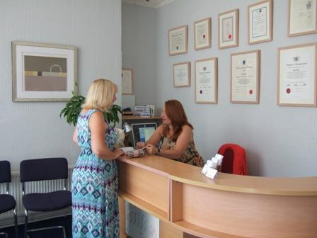 claire and sally at the avenue clinic reception